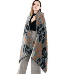 sciarpa di scialle di lana da sole calda e traspirante casual in stile etnico