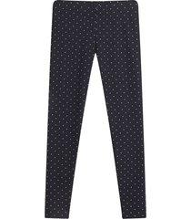 leggings mujer estampado mini puntos color negro, talla l