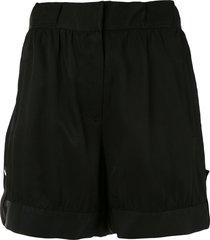 emporio armani wide leg shorts - black