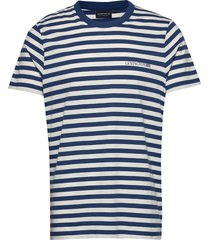 bill striped tee t-shirts short-sleeved blå lexington clothing