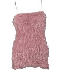 laneus fur effect dress