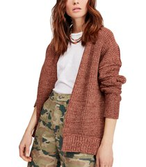 women's free people high hopes cardigan, size small - brown