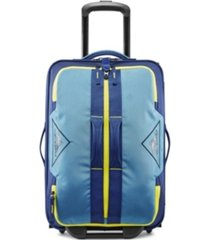 "high sierra dell's canyon 22"" carry-on wheeled drop bottom duffle"