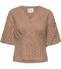 milly ss blouse blouses short-sleeved bruin second female