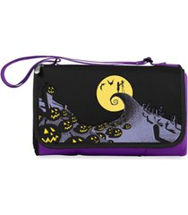 oniva by picnic time disney's nightmare before christmas jack blanket tote outdoor picnic blanket