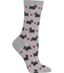 hot sox women's scottie dogs & hearts socks