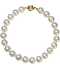 belle de mer cultured freshwater pearl bracelet (7-1/2mm) in 14k gold