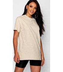 basic oversized boyfriend t-shirt, stone