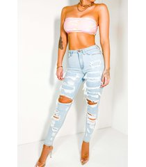 akira into the blue distressed high waisted skinny jeans