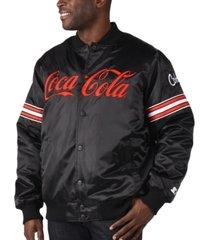 starter men's coca-cola satin twill bomber jacket