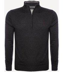 suéter aleatory 1/2 zíper masculina