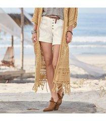 sundance catalog women's everyday explorer shorts - petites in white petite 8