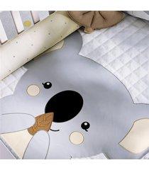 edredom beb㪠coala cinza estampado grã£o de gente cinza - cinza - dafiti