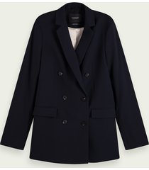 scotch & soda lange double-breasted blazer