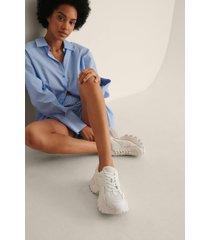 na-kd shoes träningssko med rundad sula - white
