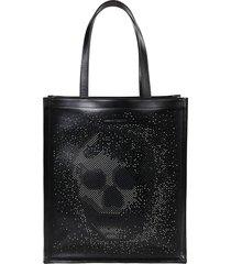 alexander mcqueen skull studded tote bag