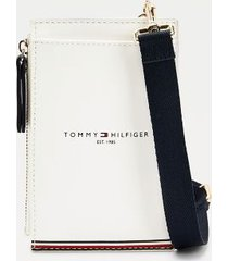 tommy hilfiger women's icon phone wallet bright white -