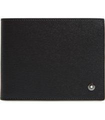 men's montblanc westside leather wallet - black