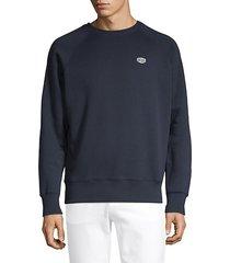 crewneck raglan-sleeve sweatshirt
