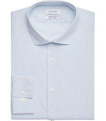 calvin klein infinite cool mini blue dot slim fit dress shirt