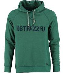 dstrezzed zachte groene sweater hoodie