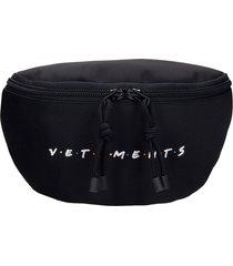 vetements waist bag in black polyester