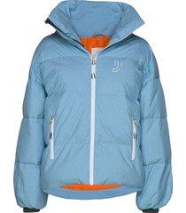cloud down jacket fodrad jacka blå johaug