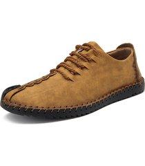scarpe stringate oxford con cucito
