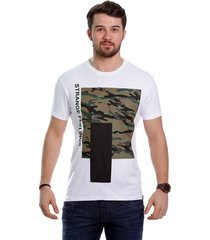 camiseta javali branca camufla