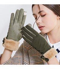 women winter warm touch screen camoscio antivento camoscio vogue full finger guanti