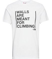 m ss walls climb tee t-shirts short-sleeved vit the north face