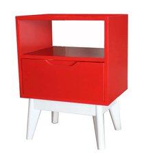 mesa de cabeceira on vermelha base branca - 57187 branco
