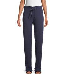 hard tail women's cotton pants - stormy blue