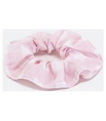 elástico de cabelo modelo scrunchie estampado   accessories   rosa   u