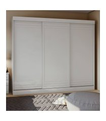 guarda roupa casal 3 portas 4 gavetas speciale móveis lopas branco