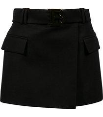 balmain belted waist skirt