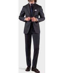 sartorio napoli grey single-breasted suit