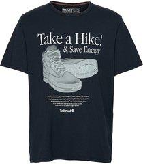 ss arch front hiker tee t-shirts short-sleeved svart timberland