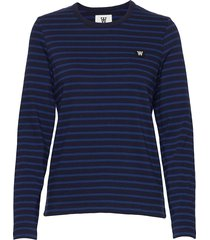 moa long sleeve t-shirts & tops long-sleeved blauw wood wood