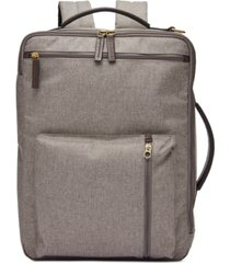 fossil men's buckner briefcase backpack