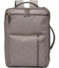 fossil men's buckner briefcase backpack