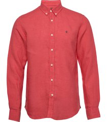 douglas linen shirt overhemd casual rood morris
