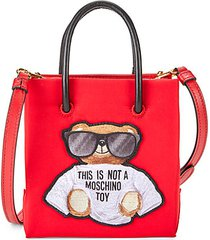 bear embroidered tote