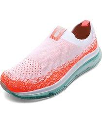 tenis rosa-coral-blanco beira rio