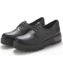 zapato negro savage cn-1 pu