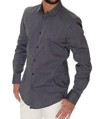 antony morato blauw slim fit overhemd