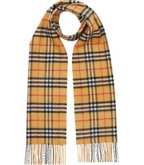 burberry classic checked scarf - yellow