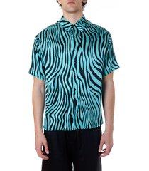 laneus animalier silk shirt