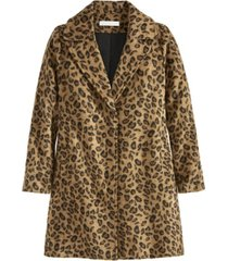 adyson parker women's cheetah button coat