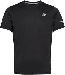 core run tee t-shirts short-sleeved svart new balance